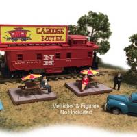 Caboose Motel - Left Front View