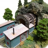 Barnesville Tunnel N-Scale Model - Right Front View