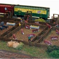 N Scale Architect 10703 Quality Meat Stock Yard Kit for sale online