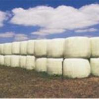 Wrapped Rolled Hay Bales - N