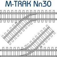 MTRAK 45 Degree Turnout Nn30 Track