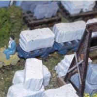 Block Wagons with Stone Blocks - N