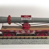 Naval Gun Load & Pennsylvania Railroad (PRR) F22 Flatcars - Side View