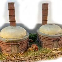 Beehive Kilns & Chimneys - Front View