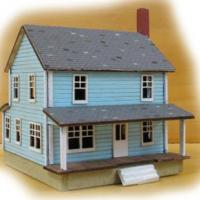 Farm House, Carriage Shed & Windmill Box Set - Farm House Z-Scale