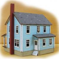 Farm House - Laser Cut Micro-Plywood Kit Z Scale