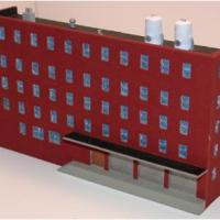 Five (5) Story Warehouse - Resin Low Relief Kit Z Scale