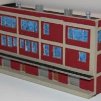 3-Story Low Relief Warehouse Resin Kit - Z Scale