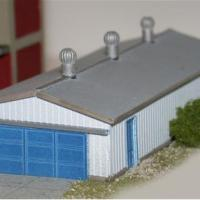 Corrugated Storage Building - Z Scale