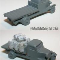 Flat Bed Delivery Truck - Z Scale