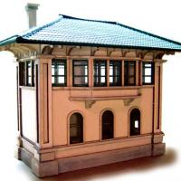 DL&W Lackawanna Tower HO Model - Front View