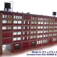 Curtain Wall Panel System Model - Left Front View