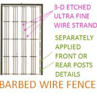 Barbed Wire Fence - New Tooling Detail View !