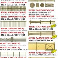 N Scale Fence Flyer