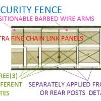 12' Chain Link Fence w/Barbed Wire & Gates - New Tooling !