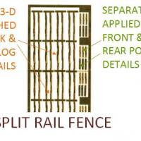 Split Rail Fence - New Tooling Detail View !