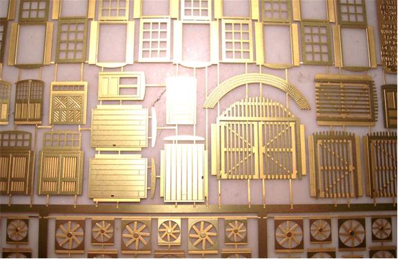 Wall Panel System Ho Add On Kit Etched Brass Window
